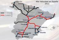 mapa del ave en España en el 2011