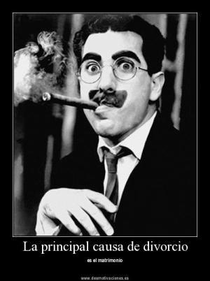 Una de las muchas frases geniales del genial Groucho Marx