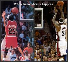 Jordan metiendo un tiro que gana un campeonato, lebron...que hace lo mismo
