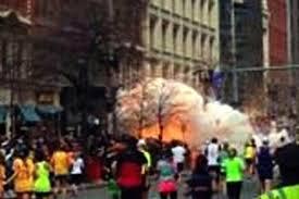 Momento de la explosión ayer en boston