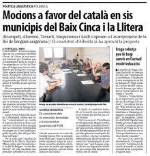 Parece que en la franja si apoyan en catalan ahora tendra que ser el LAPAO