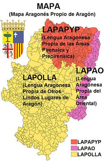 Esquema de las lenguas propias de Aragón, son la polla
