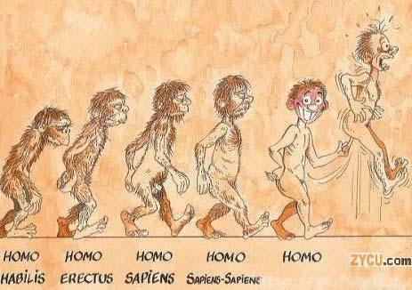 Evolucion del hombre...lo peor es que es cierta...
