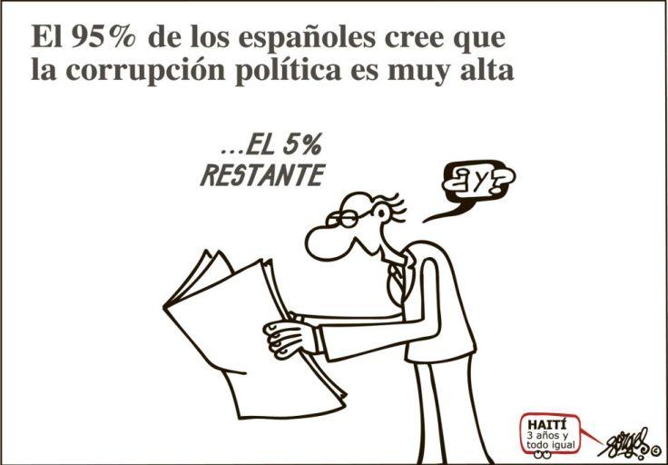 El 5% restante es politico