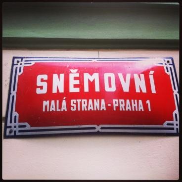 Calle de nombre dificilmente pronunciable..estos checos hablan curioso