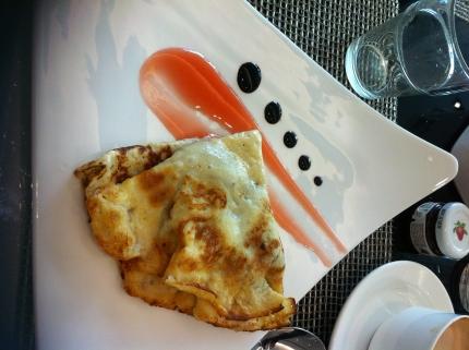 El pancake que me comi en Praga...parecia mas un crepe peroe staba mortal de bueno