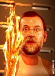 Rajoy en pleno achicharramiento