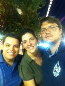 De fiesta por la feria con mi mujer Mar y Javi Martin de Pasos de salida