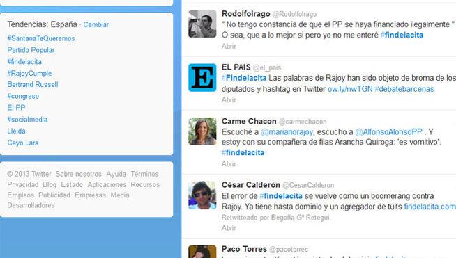 #findecita ...Rajoy hits