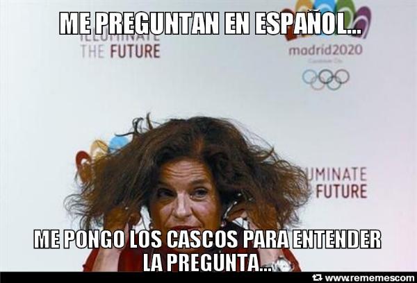 Ana Botella intentando conven...digo intimidar a los votantes del COI, o nos votais o os lanzo un hechizo