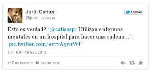 Sr. Cañas, antes de que en su twitter aparezca algo asi, asegurese, ni el interrogante le salva de lanzar una acusacion falsa