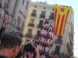 Castellers en Plaça Sant Jaume...`puro espectaculo, pura  emoción