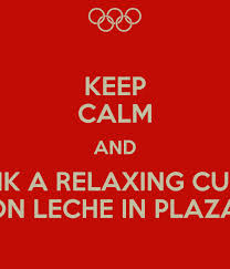 Relaxing cup of cafe con leche....