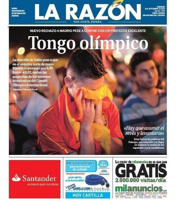 Si fuera Barcelona el titular seria Barcelona hace PERDER a ESpaña unos juegos olimpicos, culpa del nacionalismo separatista catalan