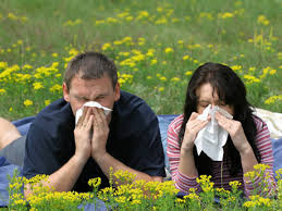 podria ser yo en un ataque de alergia...pañuelo en mano