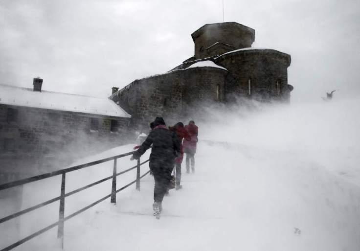 nieve y viento...mala combinacion