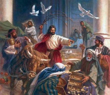 Jesús expulsando a los mercaderes del templo...anti sistema y violento lo debió calificar la derecha de la época, seguroque si