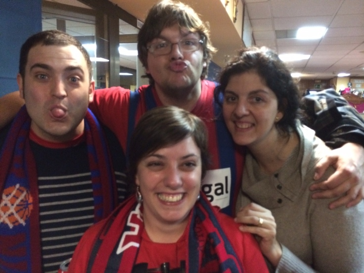 Gerardo, Nekane, Mar y yo..y seriedad, mucha seriedad