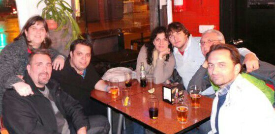 Zurine,Iñaki,Josu,el aita de Zurine,Javi Martin, Mar y yo el domingo por la noche, la ultima cena