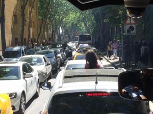 El trafico Istambules....caótico es poco