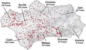Fosas comunes en Andalucía... en una de ellas la que esta entre Viznar a Alfacar descansa un maestro de escuela, un genio de las letras y gente anónima cuyo único delito es pensar diferente que otros