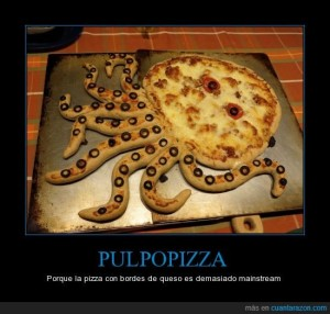 Con esta pizza...disfrutaria