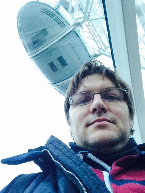 Selfie en el London Eye...espectacular...el london eye me refiero