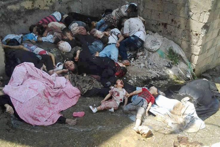 Los refugiados, huyen de esto, huyen de la barbarie, de la sinrazón de la guerra