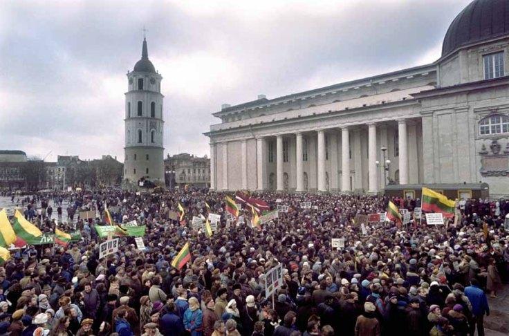 Evidentemente en la de Lituania no estuve, pero si en todos los 11 de septiembre que se han celebrado en Cataluña