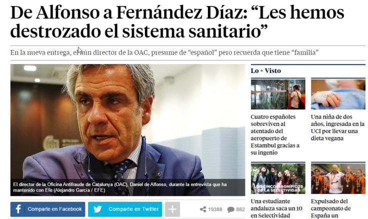 """2016-07-02 18_52_45-De Alfonso a Fernández Díaz_ """"Les hemos destrozado el sistema sanitario"""""""