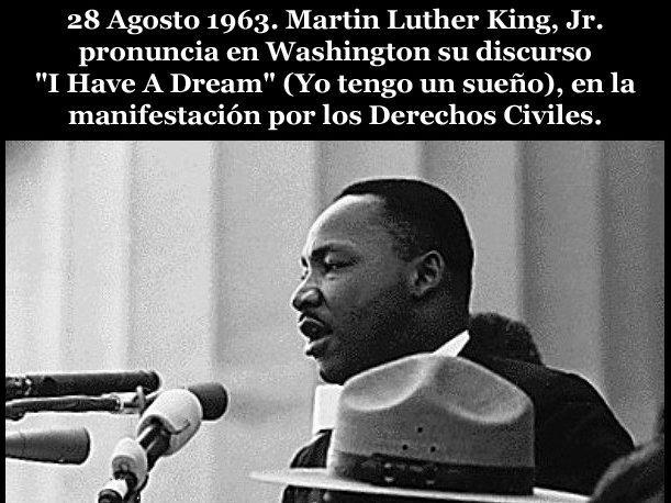 Resultado de imagen para Fotos: Martin Luther King pronuncia su célebre discurso «I have a dream» ('Yo tengo un sueño')
